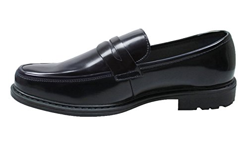 Mocassini uomo class nero ecopelle scarpe slip on eleganti man's shoes