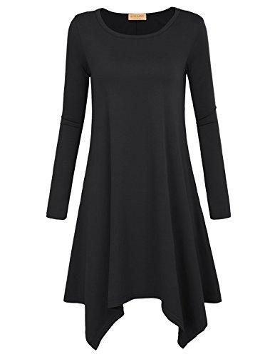 df0997db5ee Kate Kasin Women Soft Loose Casaul Swing Pocket Tunic Tops T-Shirt Dress
