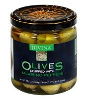 Divina Olives Stuffed with Jalapeno - 7.7 Ounce