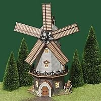 DEPT 56 DICKENS ANIMATED BIDWELL WINDMILL RETIRED #58489 ABINGTON CANAL SERIES