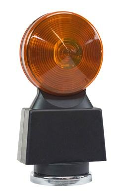 Battery Powered Strobe Light - Hazard Flashing Lights with Magnetic Base - AMBER LENS - HDFL-AA