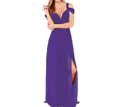 Prom Maxi Purple Gown Shoulder Off Bridal Beach Sexy Amore Womens Wedding Dress 6zxXwfq