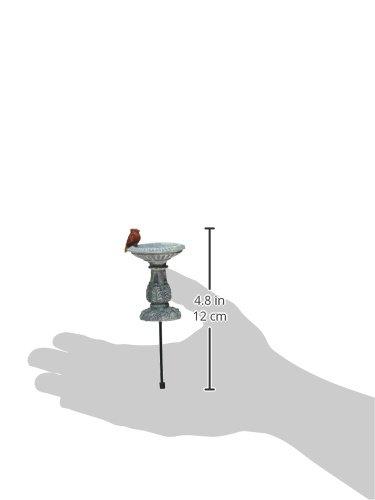 Georgetown Miniature Cardinal Bird Bath Fiddlehead Fairy Accessory