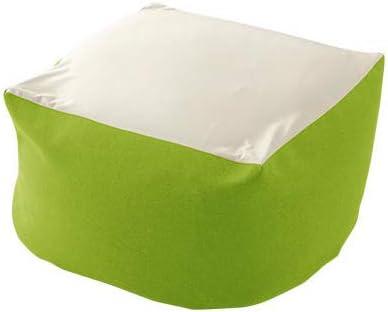 日本製 カバーが洗える ビーズクッション Lサイズ (単品) グリーン【CF002103】