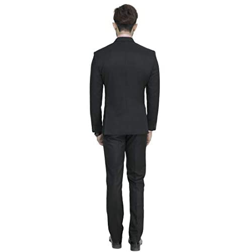 31sBI77EqcL. SS500  - MANQ Men's Slim Fit Party/Formal Suit (Pack of 2)