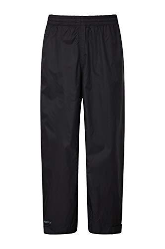 Mountain Warehouse Pakka Kids Rain Pants - Waterproof Overpants Black 13-14 Years