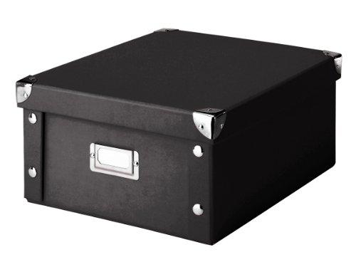 Zeller 17918 Aufbewahrungsbox, Pappe / 31 x 26 x 14, schwarz