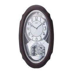 Crystal Hearts Musical Clock Silver - Silver Heart Clock