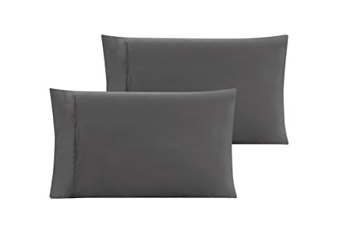 QUEEN size Solid GREY / GRAY Pillow Cases 1500 Thread Count