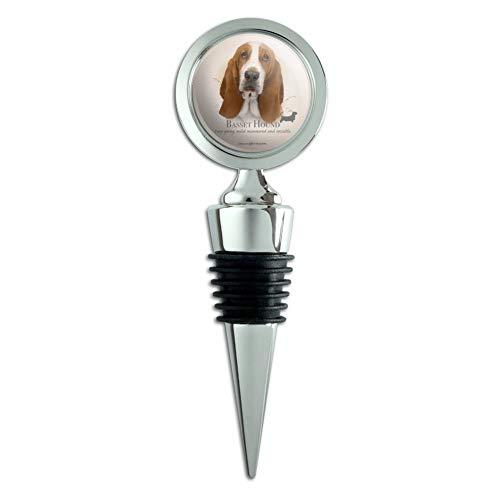 - Basset Hound Dog Breed Wine Bottle Stopper