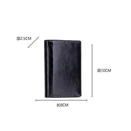 À Noir Blue Buttons Wallet main Tout Sacs QZTG Fourre Fuchsia Men's Grande sac Bags PU De Dark à Black Main Capacité RnqOxA
