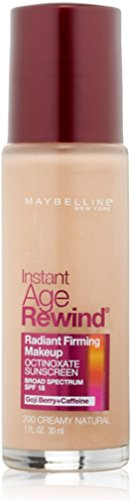 Maybelline Instant Age Rewind Radiant Firming Makeup, Creamy Natural 200 , 1 oz Pack of 3