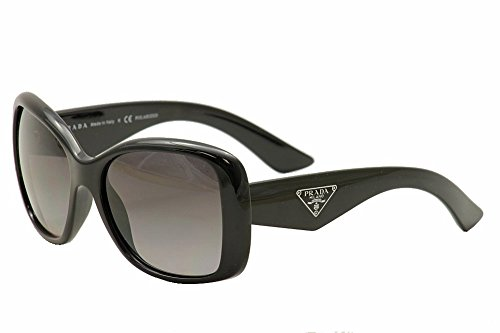 Prada 32PS 1AB5W1 Black Triangle Cats Eyes Sunglasses Polarised Lens Category 3 (Prada Sunglasses)