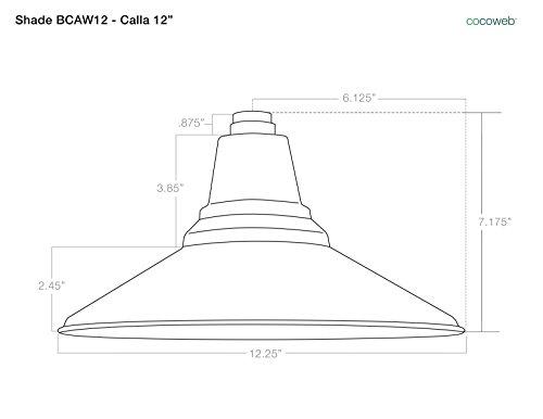 Cocoweb BCAW12BK-1B Calla Indoor/Outdoor LED Barn Light With Metropolitan Stem, 12'', Black by Cocoweb (Image #1)