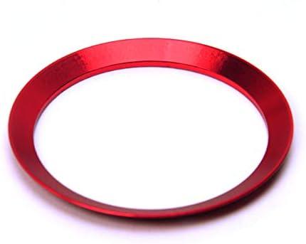 Red Aluminiumlegierung Lenkrad Zierring Dekoration Abdeckleiste f/ür den neuen Smart 453 Fortwo Forfour