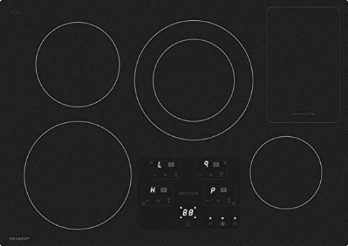 Sharp SDH3042DB 30 Inch Electric Induction Cooktop with 4 Elements, in Black (Best 30 Induction Cooktop)