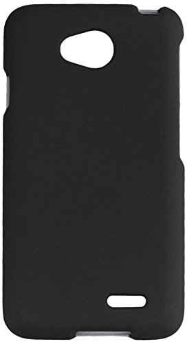 LG Ultimate 2 Case, Solid Color Hard Snap On Cover with Rubberized Feel for LG Optimus L70 MS323, LG Optimus Exceed 2 VS450PP, LG Realm LS620, LG Ultimate 2 L41C (Metro PCS, Verizon, Boost Mobile) from MINITURTLE | Includes Clear Screen Protector and Stylus Pen - Black