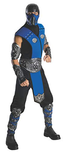 Mortal Kombat Sub Zero Adult Costume, Blue, One Size