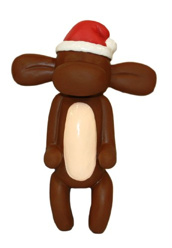 Charming Pet Products Balloon Xmas Monkey Mini Latex Dog Toy, My Pet Supplies