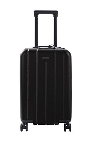 Carry On Luggage Lightweight Suitcase Spinner (Black) by CHESTER