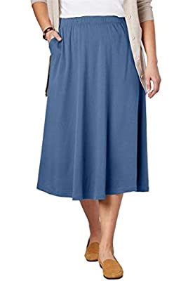 Woman Within Plus Size 7-Day Knit A-Line Skirt