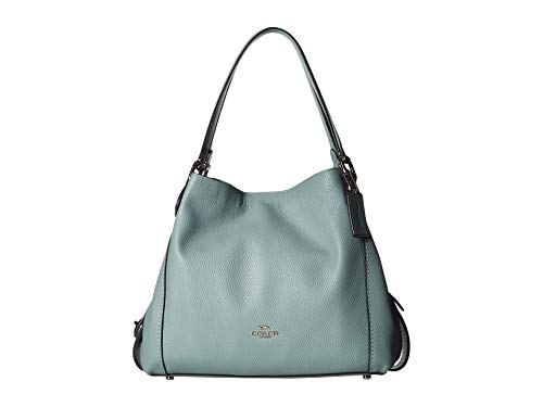 COACH Women's Pebbled Leather Edie 31 Shoulder Bag Silver/Sage One Size ()