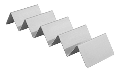 American Metalcraft MTSH5 Stainless Steel Mini Taco Holder, 4-5 Compartments, 6.95 x 2, Silver