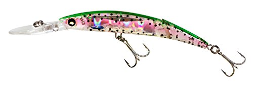 Yo-Zuri Crystal 3D Minnow Deep Diver Jointed Floating Lure, Holographic Rainbow Trout, 5 1/2-Inch