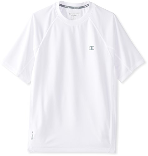 Hanes T6608 Champion Vapor Power Train Short Sleeve Mens Tee, White Size Large 00078715064662