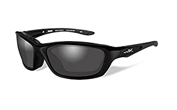 Wiley X Brick Sunglasses, Polarized Smoke Grey, Gloss Black