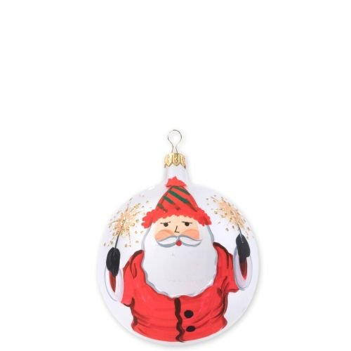 (Vietri Old St. Nick Limited Edition Christmas Ball Ornament, Festive Santa)
