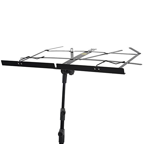 ADM Folding Adjustable Music Stand with Carrying Bag, Portable Metal Holder for Sheet Music, Black by ADM (Image #6)