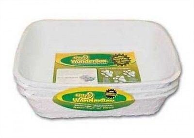 Kitty's WonderBox Disposable Litter Box, Medium, 3-Count, New, Free Shipping