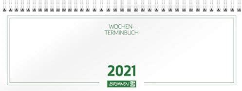 Brunnen Tischkalender weiß quer 1Woche/2Seiten 2021