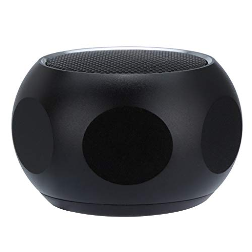Mini Portable Wireless Super Bass Stereo Metal Case Subwoofer MP3 Speaker, Bluetooth,Wifi,Built-in Mic,Rechargable (Black)