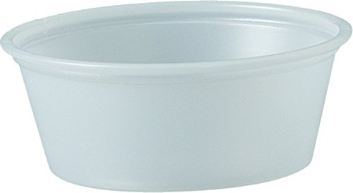 Solo Plastic 1.5 oz Clear Portion Container for Food, Beverages, Crafts (Pack of 250)