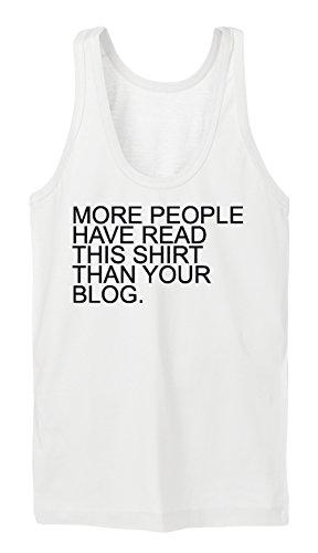 More People Have Read This Shirt... Tanktop Girls Blanc
