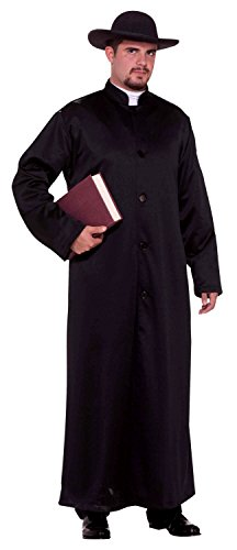 Forum Novelties Men's Biblical Times Padre Robe Costume, Black, One Size -