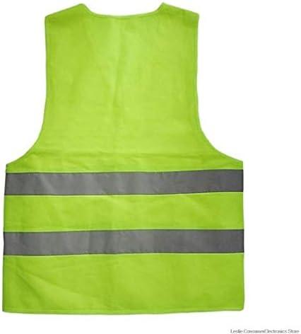 新ユニセックス反射ベスト作業着は、子供の安全ベストを警告高い可視性のデイナイト実行サイクルを提供します (色 : 黄, サイズ : XXL)