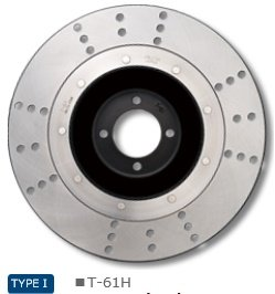 Z750FOUR(A4,A5,D1) FRONT BRAKE DISK TRAD 61TYPE HOLE MODEL T-61H   B01LVXHCNX