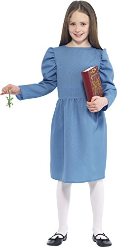 Age 7-9 Blue Girls Roald Dahl Matilda Costume - Roald Dahl Costumes For Girls