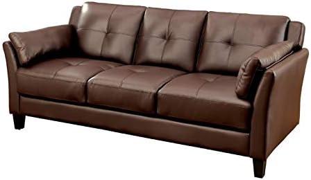 Amazon.com: Furniture of America Tonia Tufted Faux Leather ...