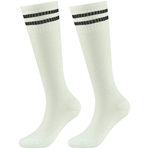 - Soccer Socks Kids, saillsen Moisture Wicking Cushioned Athletic Sport Football Baseball Softball Rugby Over The Calf Socks School Uniform Socks for Kids, 2 Pairs