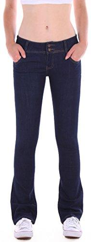Jean pour dames, Pantalon jean, jeans vass, pantalon Bootcut, jeans moulants en bleu Bleu