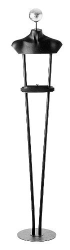 Ladies' Floor Standing Unit w/ Gold Leaf Ball Black by Modern Store Fixtures