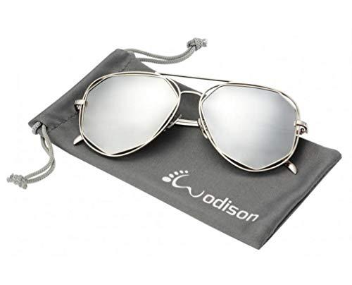 WODISON Polarized Aviator Sunglasses for Women Reflective Le
