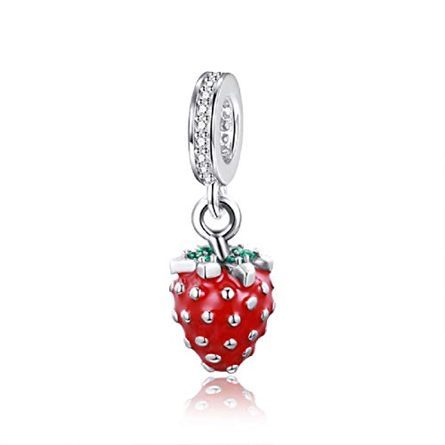 - EVESCITY 925 Real Silver Gold Beads for Charm Bracelets ♥ Best Jewelry Gifts for Her Women ♥ (Red Strawberry Fruit)