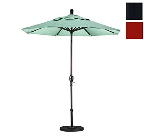 California Umbrella 7.5u0027 Market Patio Umbrella With Push Tilt In Brick
