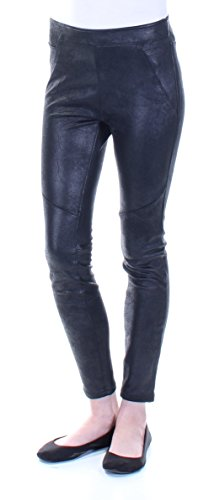 - Free People Womens Faux Leather Pull On Pants Black 2