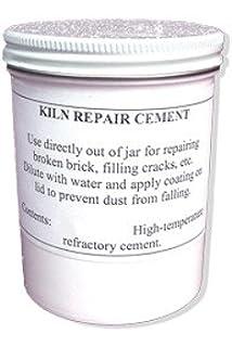 Amaco Kiln Cement Moist Ready to Use Mend Fire Bricks 1 Pound Jar